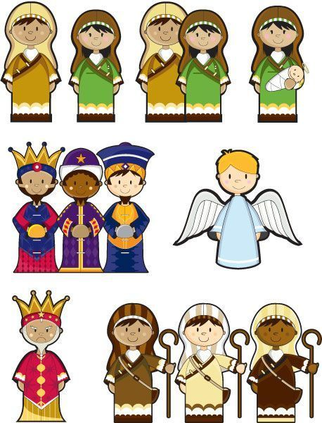 Printable nativity finger puppets