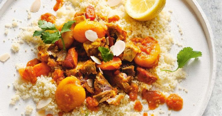 Try this tasty shortcut pork tagine, packed with juicy apricots, tender pork and aromatic herbs and spices.