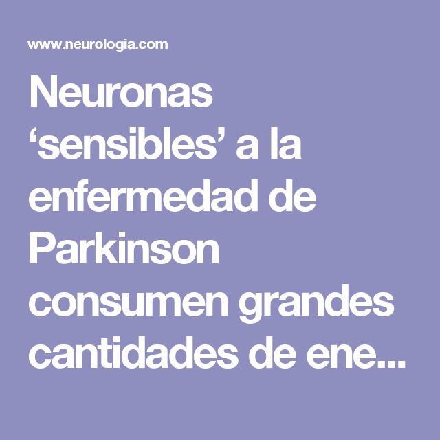 Neuronas 'sensibles' a la enfermedad de Parkinson consumen grandes cantidades de energía : Neurología.com