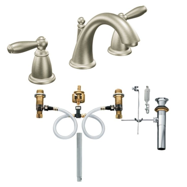 Moen T6620BN-9000 Brantford Two-Handle Low Arc Bathroom Faucet with ...