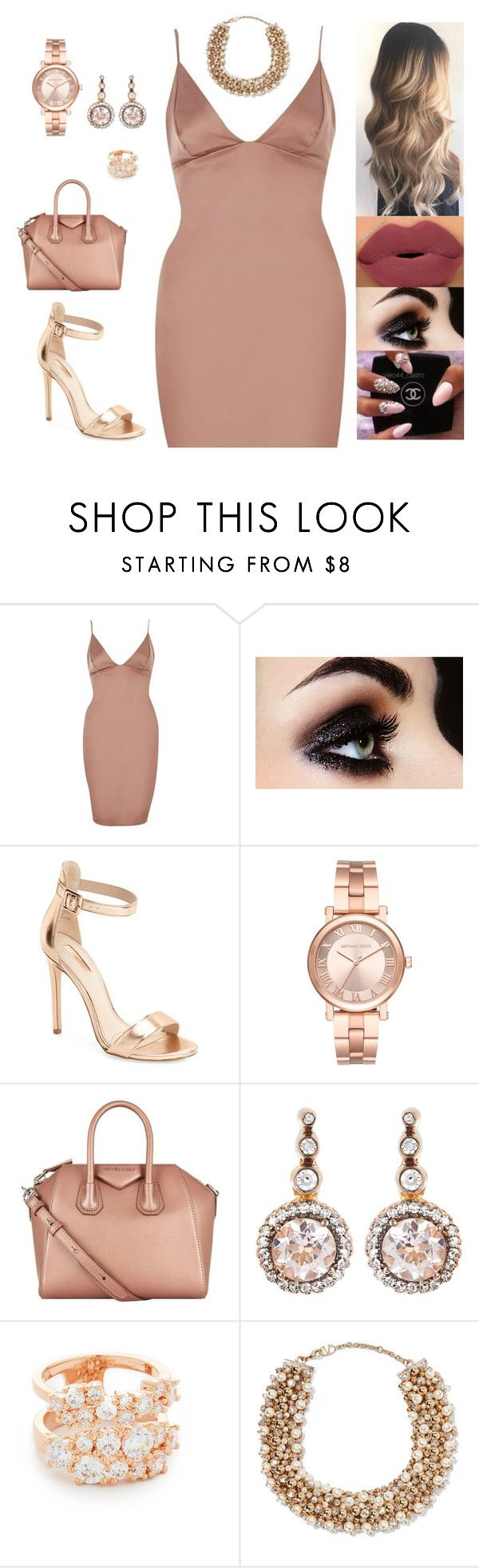 """""""Untitled #4774"""" by sigalv ❤ liked on Polyvore featuring River Island, Topshop, Michael Kors, Givenchy, Selim Mouzannar, Bronzallure and Valentino"""