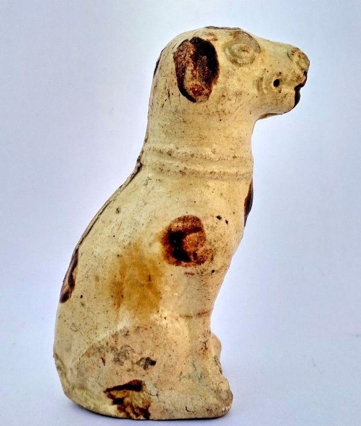 VINTAGE OLD  PORCELAIN DOG  FIGURE-FIGURINE CREAM COLOR COLLECTIBLE JAPAN