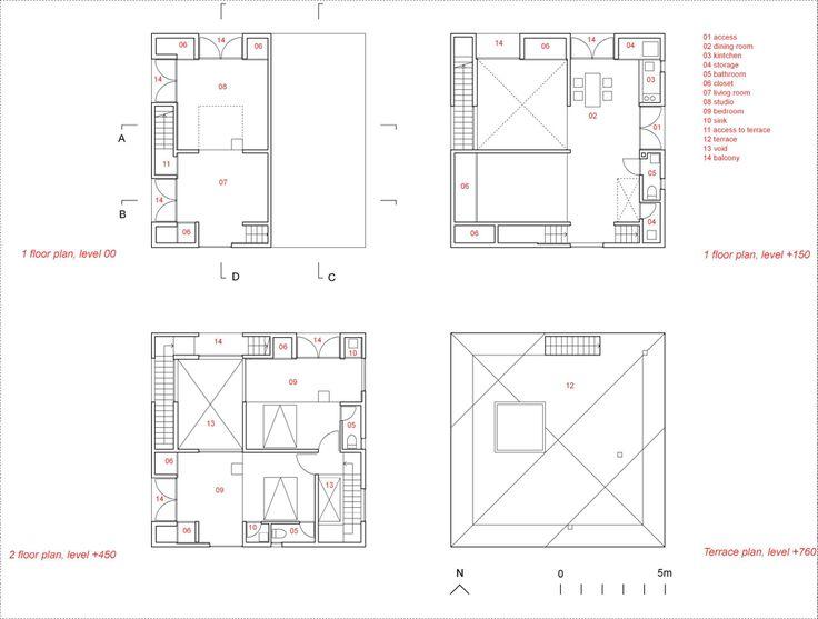 Casa Poli - Pezo von Ellrichshausen - plans