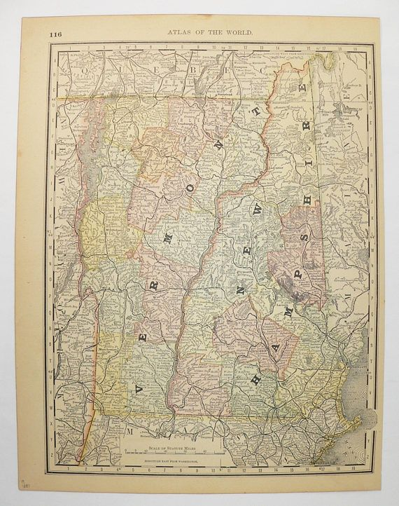 Best Antique US State Maps Images On Pinterest - Antique us map