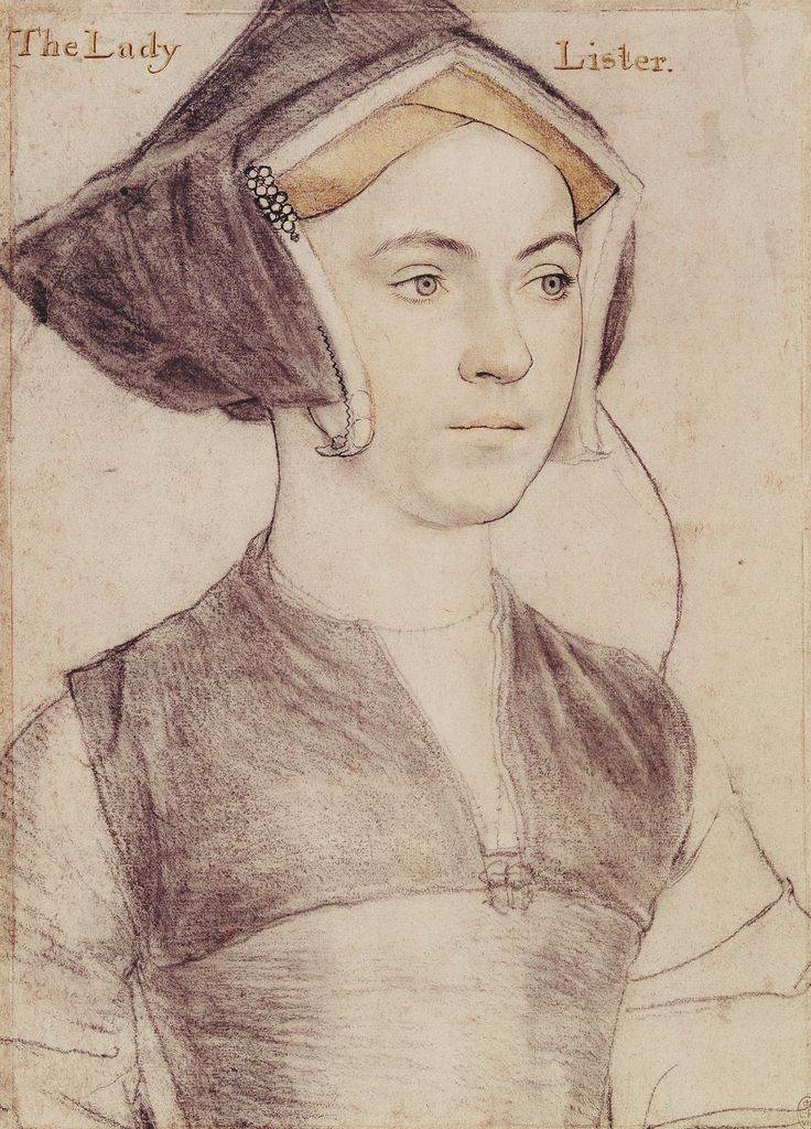 Hans Holbein the Younger, Lady Lister (ca. 1532-43, Royal Collection, London)