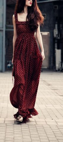 Bohemian Dress Floral Brick Red Tunic Dress Beach Dress Full Pleated Skirt Evening Prom Ball Gown Cocktail Backless Wrap Strap Holiday Dress                                                                                                                                                     Mehr
