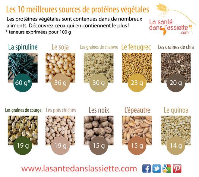 Le top 10 des protéines végétales !                                                                                                                                                                                 Plus