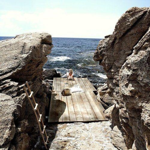 the ultimate swim deck / San Giorgio Hotel Mykonos
