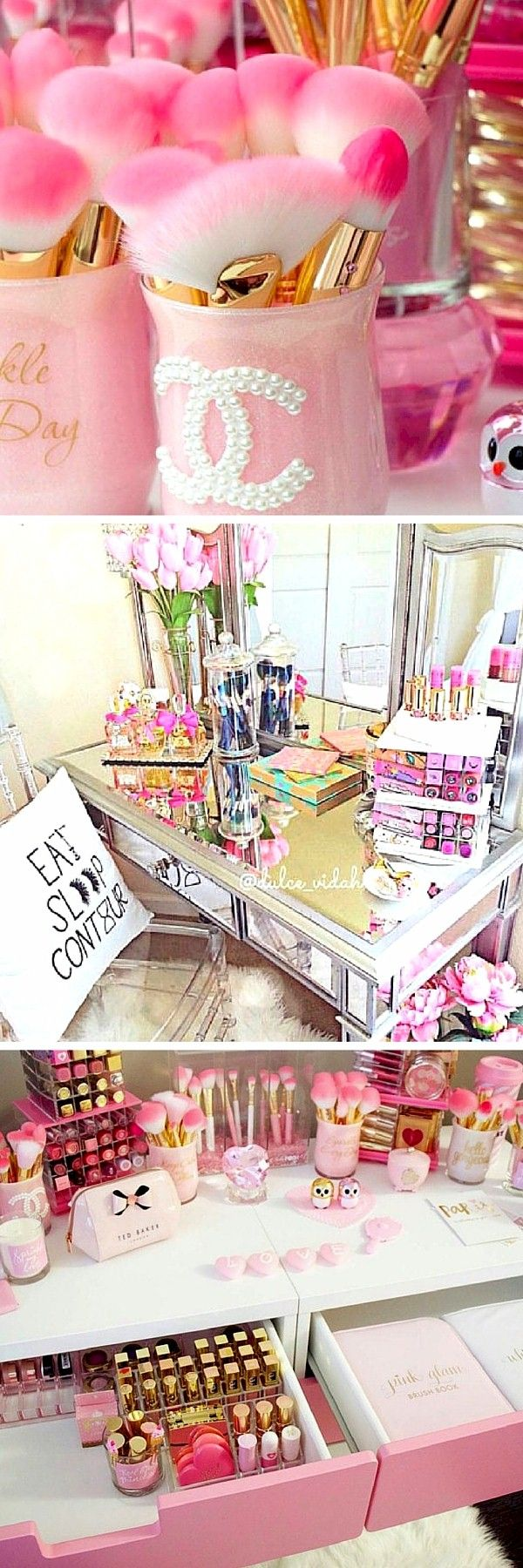 Love the Pink Vanity (Third Picture Shown).