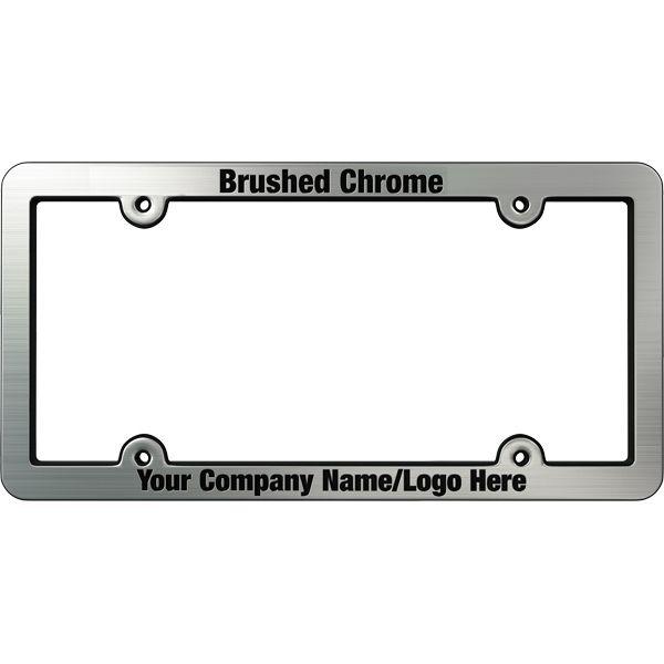 Brushed Ridged Chrome Faced Plastic License Frames Custom License Plate Frames License Frames Frame