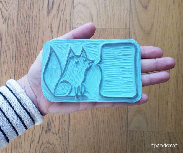 timbro volpe con fumetto #2 « pandora creazioni | art & craft