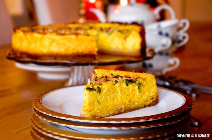Saffranscheesecake med mazarinbotten - by Jillsmat.se