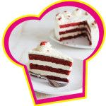 Red velvet cake met cream cheese glazuur