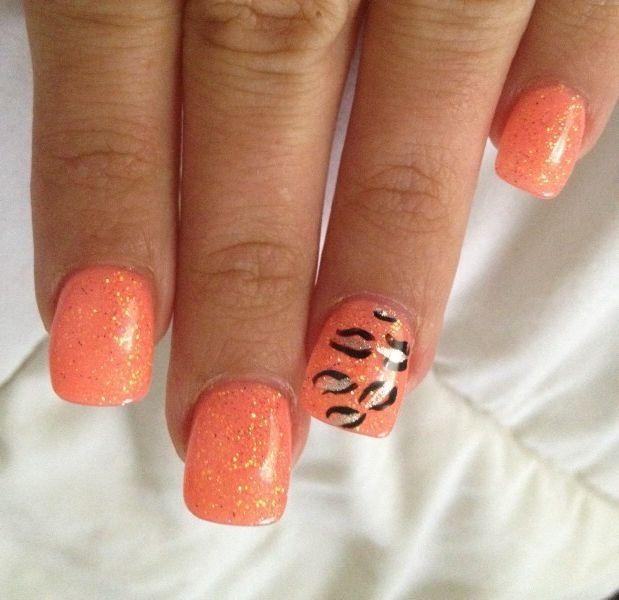 orange | Simple nails, Orange nails, Nail colors