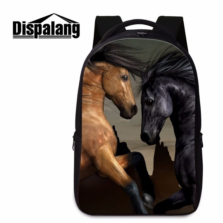 School Bags for Teen Boys Animal Printed Laptop Backpacks Cool Horse Schoolbags BagPack for Boys Mens Travel Bags Child Mochilas