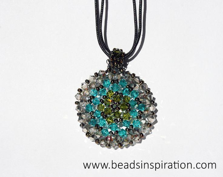 swarovski, beads, superduo, necklace, soleil, collar