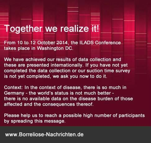 LYME DISEASE Support the #ILADS Conference. Share your experiences www.borrelios… Evo Naut