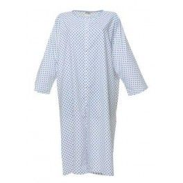 Patient gown with poppers in front