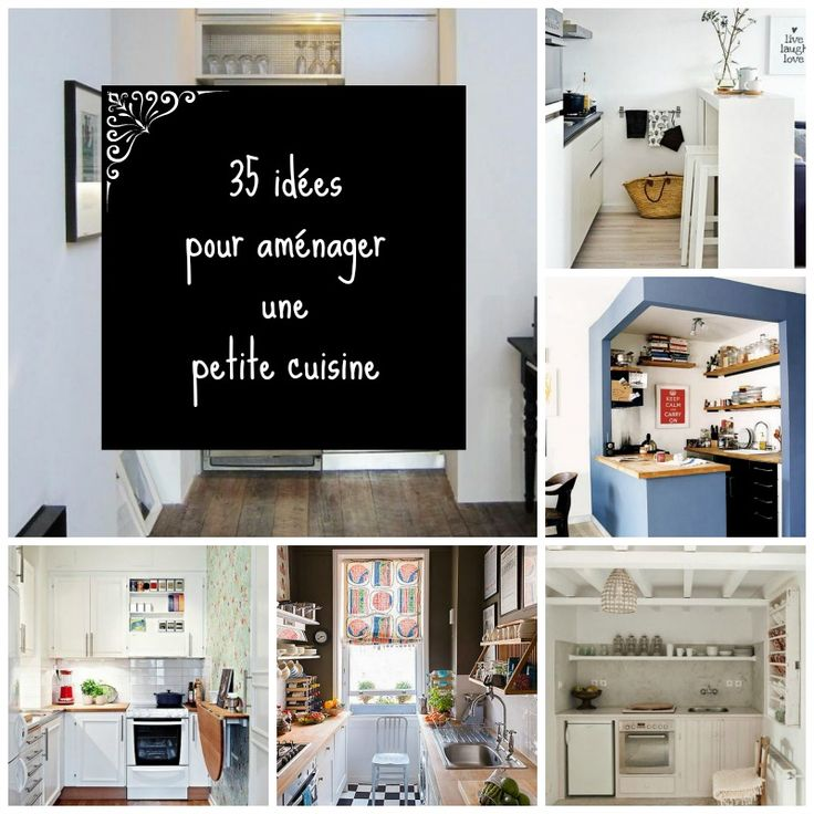 35 id es pour am nager une petite cuisine gardens small kitchens and petite cuisine. Black Bedroom Furniture Sets. Home Design Ideas