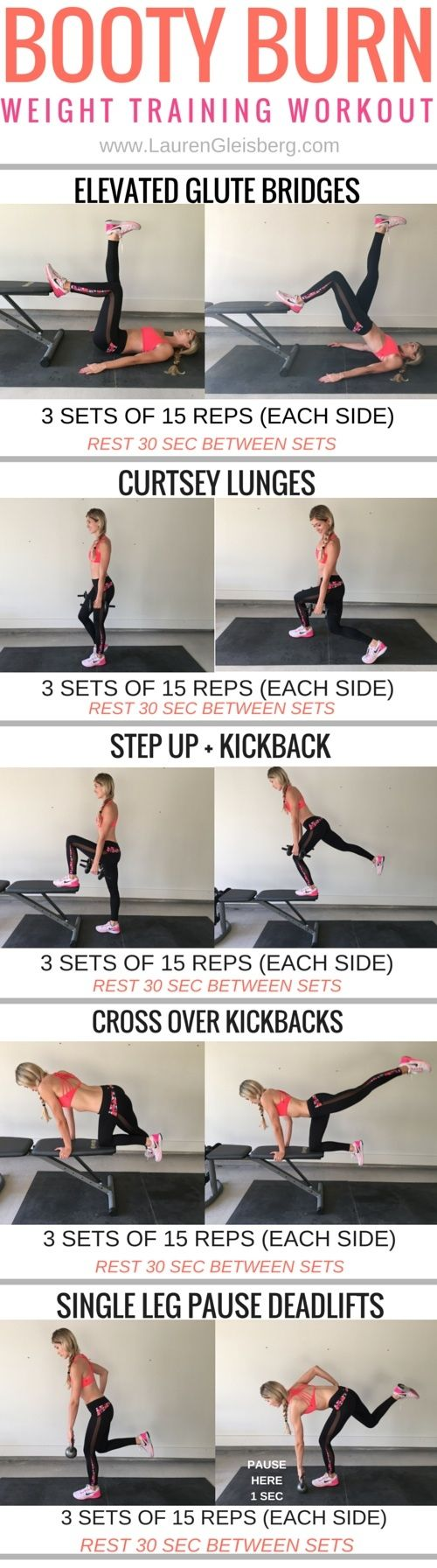 LEGS + BUTT weight training workout | click image for the full workout plan  www.LaurenGleisberg.com