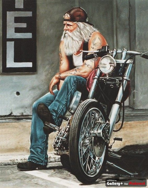 Long hair, bikes and tattoos used to make you different...Wantabees fucked that up for the originals...They're still pissed! Don't find out the hard way...