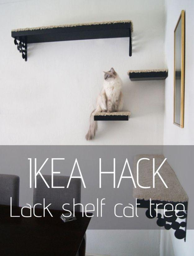 Ikea hack how to revamp furniture. ikea-hacks cat shelf. ikea-hack with old doors. ikea-hack desk.