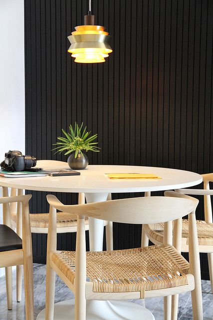 Black and Wood Table
