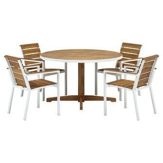 Een mooie ronde tafel, die niet teveel ruimte inneemt. #Klaverdroomtuin