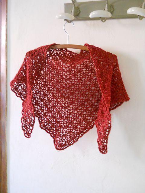 Crochet Triangle Shawl - Free pattern <3
