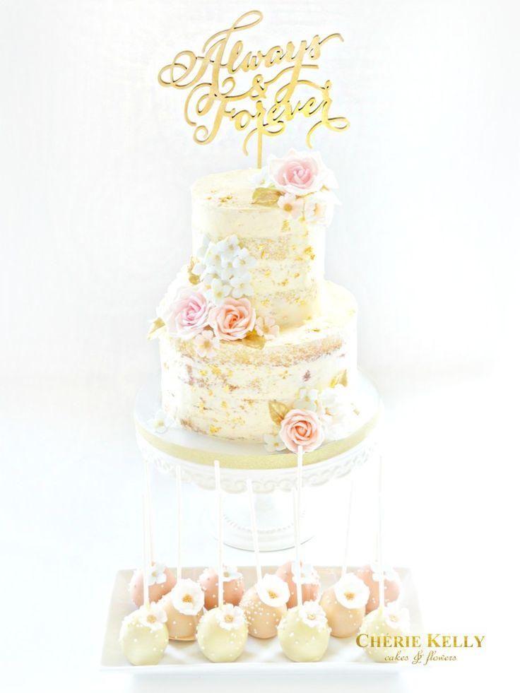 Wedding Cake Bunting Topper Pink Flowers