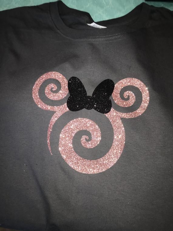 New Disney Princess Minnie Mickey Mouse Hands Ears T Shirt Womens Top Gold Print