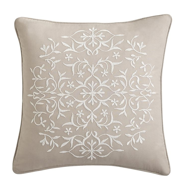 Dove Lace Embroidered Decorative Pillow 16