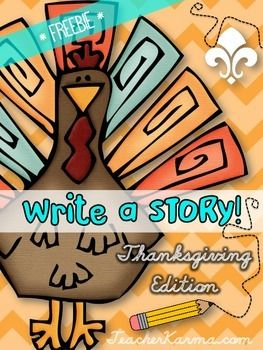 FREE Thanksgiving Writing Papers will inspire your kiddos to write a Thanksgiving story.  There are 5 adorable Thanksgiving writing papers for you to choose from.*******This free download is part of a full-product purchase.  The information below describes the Thanksgiving Write a Story product.*********Your kiddos will be inspired to write with the colorful, fun THANKSGIVING clip art pictures they will use to create their stories.