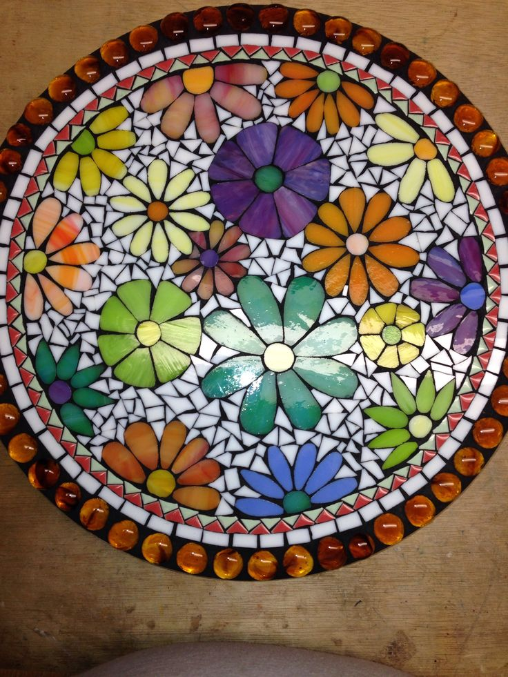 583 Best Mosaic Flowers Images On Pinterest