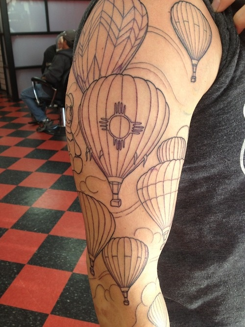 new mexico balloon fest tattoo. i will have a tattoo similar to this. nm will always be home. <3