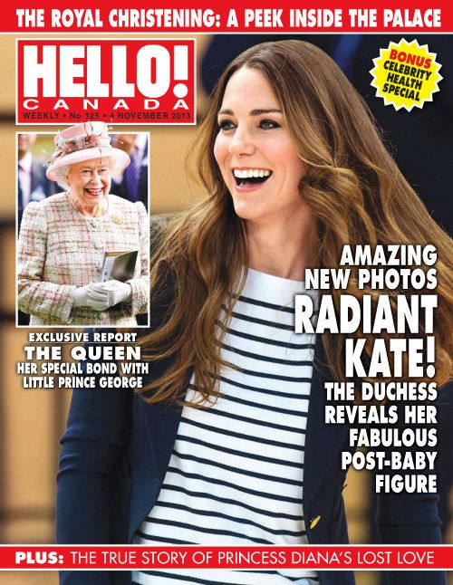 HM The Queen and The Duchess of Cambridge on the Hello! Canada Magazine cover, Nov 4