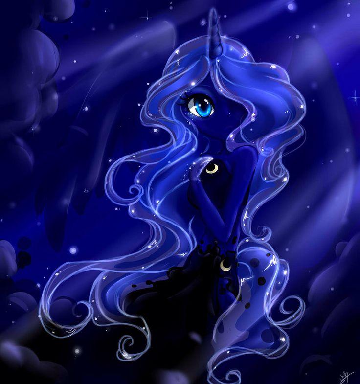 MLP Princess Luna Fan Art. Human. Uploaded by SUNSET SHIMMER.