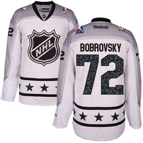 Men's Blue Jackets #72 Sergei Bobrovsky White 2017 All-Star Metropolitan Division Stitched NHL Jersey