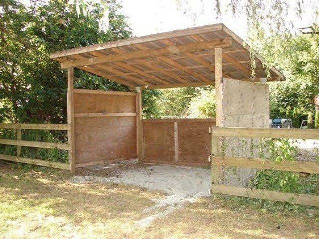 inexpensive mini horse sheltersbarns easy diy  crafts horses   life pinterest