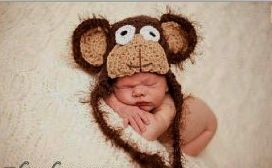 baby boy hat , baby girl hat , baby monkey hat, infant