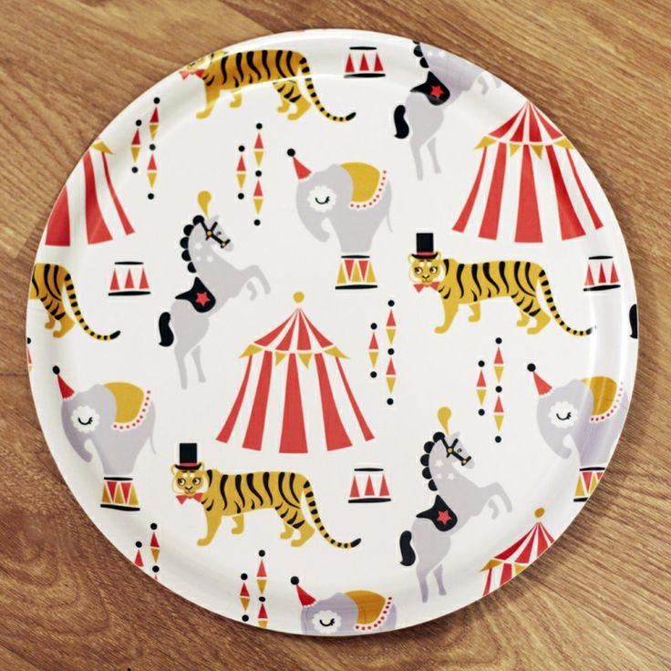 PaaPii Design - Pyöreä tarjotin Sirkus