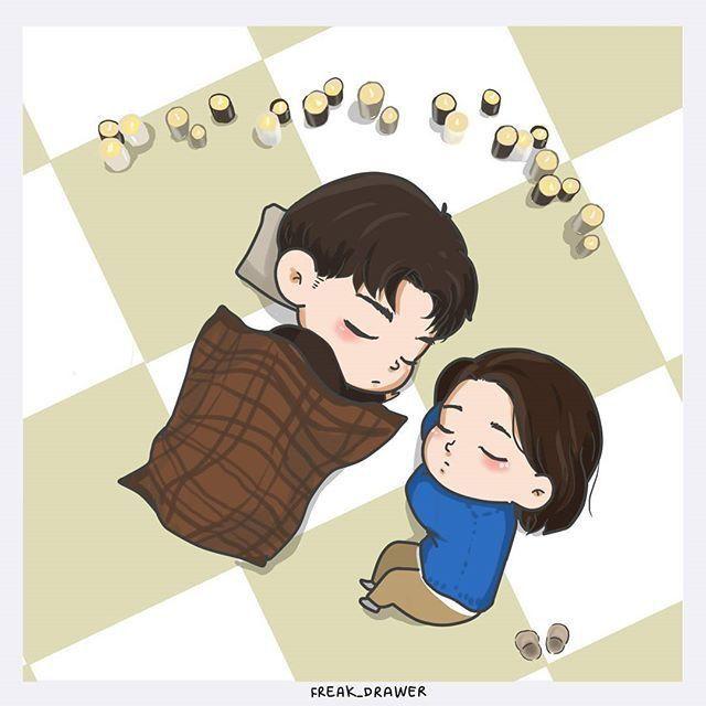 #goblin #korean #kdrama #koreandrama #grimreaper #euntak #deokhwa #cute #animated #drawing #chibi