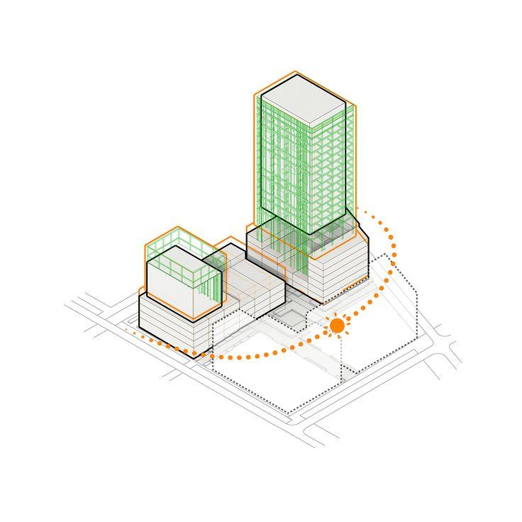 CIVIC architects - Woningblok Kavel N Sloterdijk - Amsterdam - Iso diagram