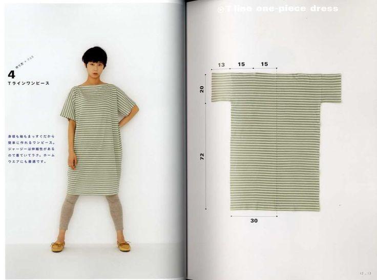 t-line one-piece dress Yoshiko Tsukiori's Straight Stitch Apron and Apron Dresses Japanese Craft Boo | eBay