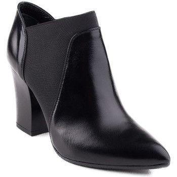 Low boots Visconi 1023 botki skórzane czarne z gumą
