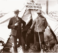 North West Mounted Police tent
