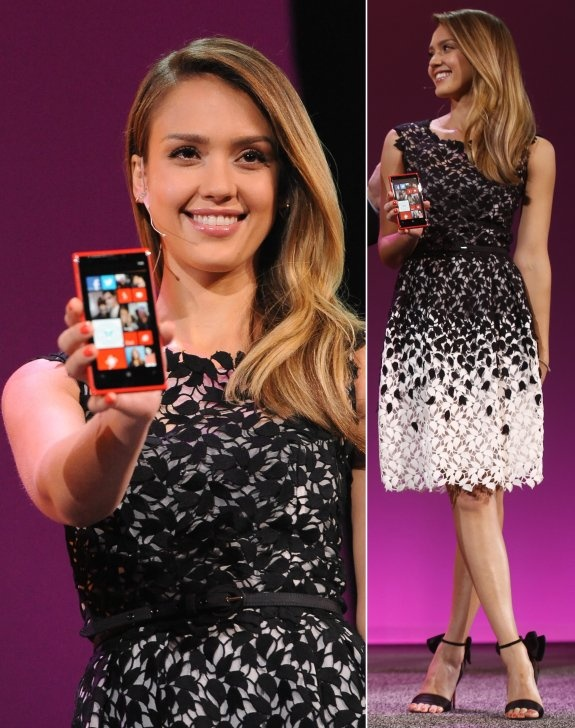 Jessica Alba At Microsoft Windows Phone 8 Launch