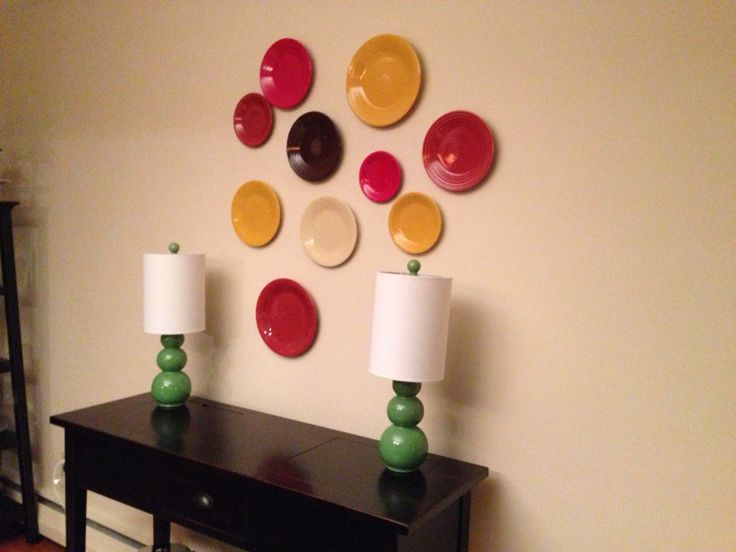 In dining room. Love it. always thought I needed to add another plate on wall to balance out.