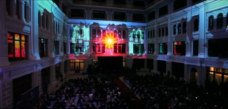 "Interior #3Dmapping for ""Aristos — 2013"", awards in top management. #videomapping #projection #show #DreamLaser #Moscow"