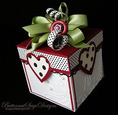 valentine makeover for an exploding box!